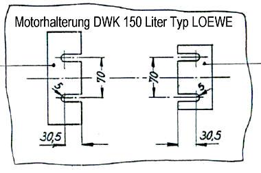 DWK LOEWE Grundfos Motorhalterung Druckwasserkessel Killus-Technik.de