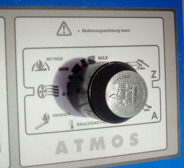 ASU-Timer an einem ATMOS Holzvergaser montiert Killus-Technik.de