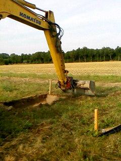 Grabenkollektor für Sole-Wasser-Wärmepumpe Bodenplatte für das Haus ausschachten Killus-Technik.de