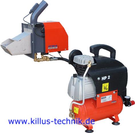 Automatische pneumatische Brennerreinigung für ATMOS Pelletsbrenner A25 und A45 Killus-Technik.de