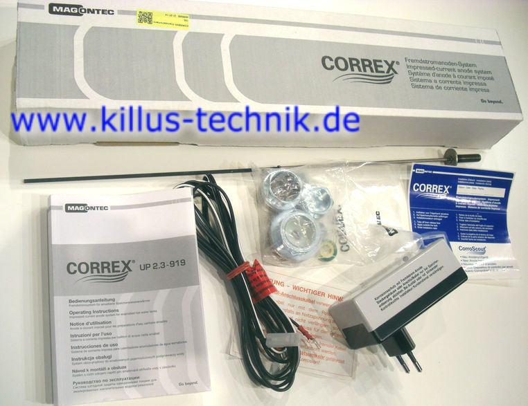 Correx Fremdstromanode Set-4 zum Schutz von emaillierten Speichern bis 1.000 Liter Killus-Technik.de