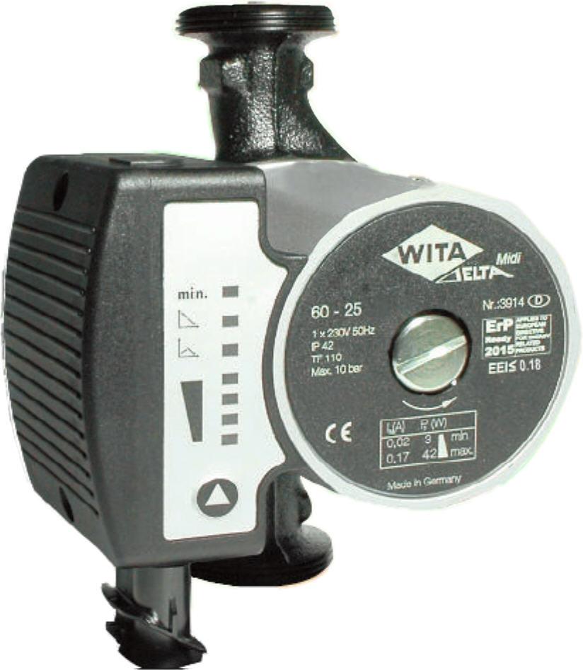 WITA Hocheffizienz Umwälzpumpe für Heizungen 4m Delta MIDI Killus-Technik.de
