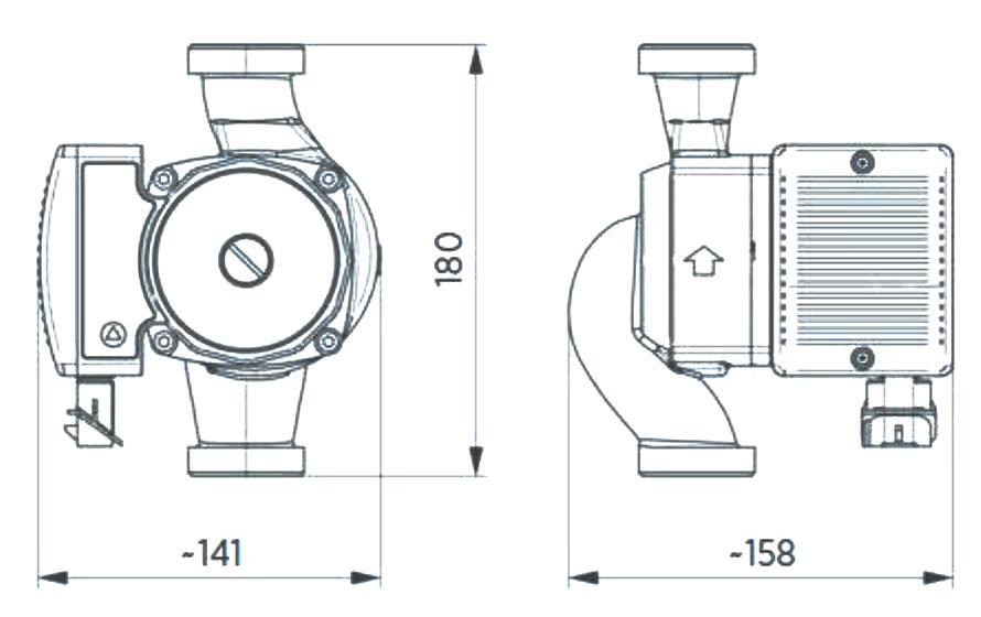 WITA Hocheffizienz-Umwälzpumpe 8m Delta MAXI 80 Abmessungen Proportionaldruck Konstantdruck Killus-Technik.de