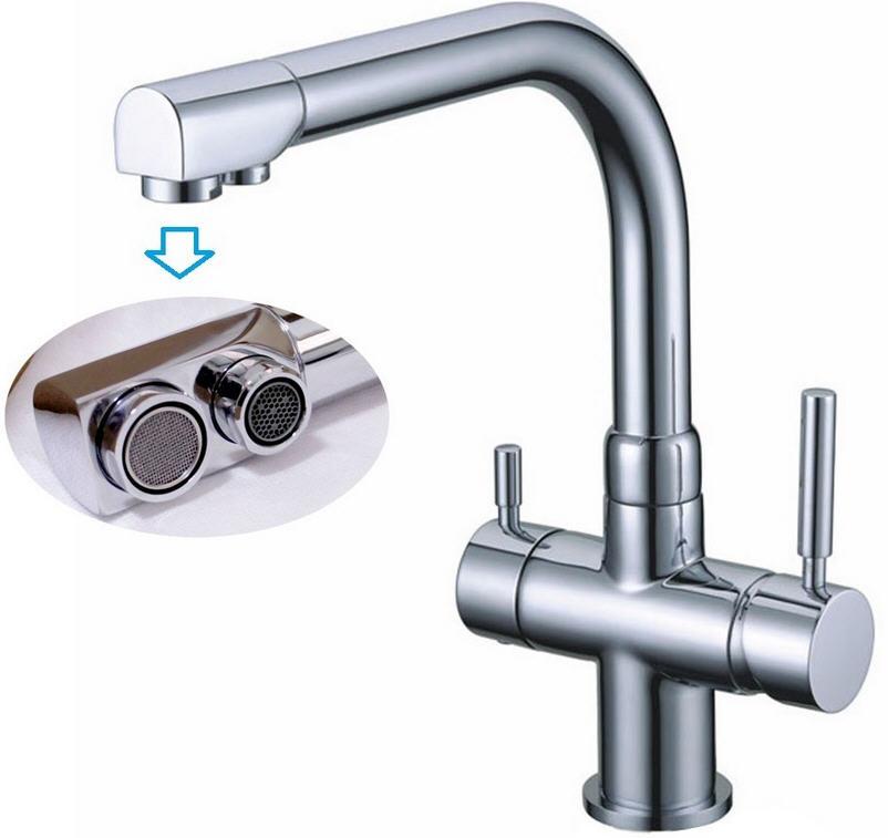 3-Wege Wasserhahn für Umkehr-Osmoseanlagen Wasserfilter Killus-Technik.de