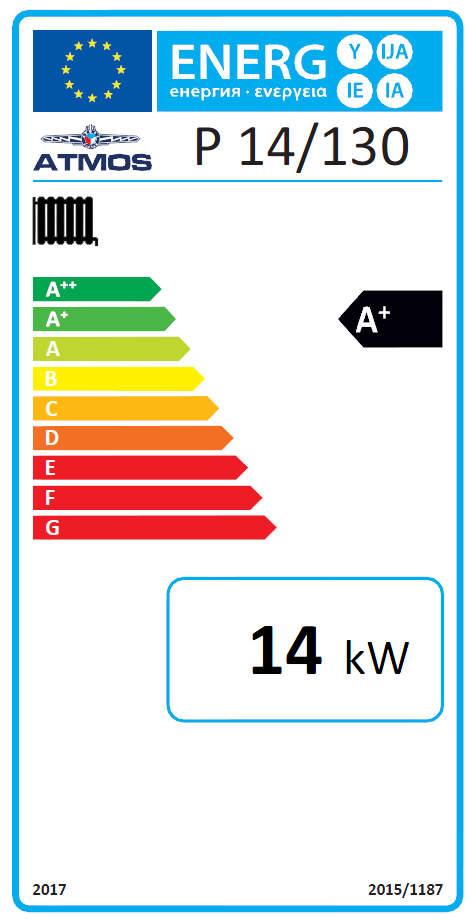 ATMOS Pelletkessel P 14 - P 21 Energielabel Killus-Technik.de