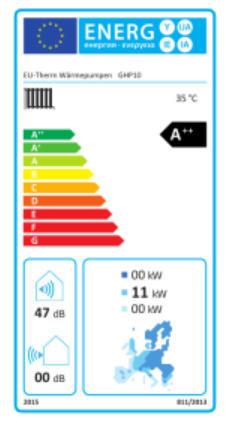 GHP 10 Sole-Wasser-Wärmepumpe Hiseer Energielabel Killus-Technik.de