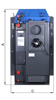 ATMOS Kohlevergaser Abmessungen Killus-Technik.de