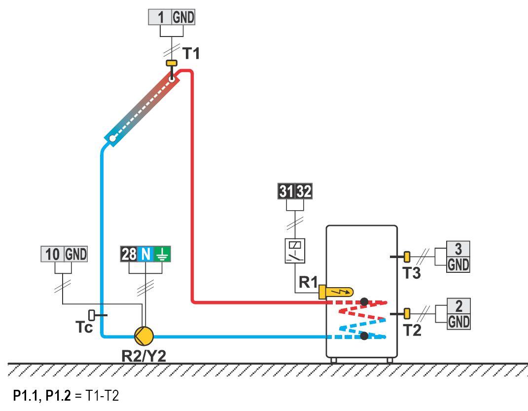OEG KSW Solarregler Hydraulikschema 214 Killus-Technik.de