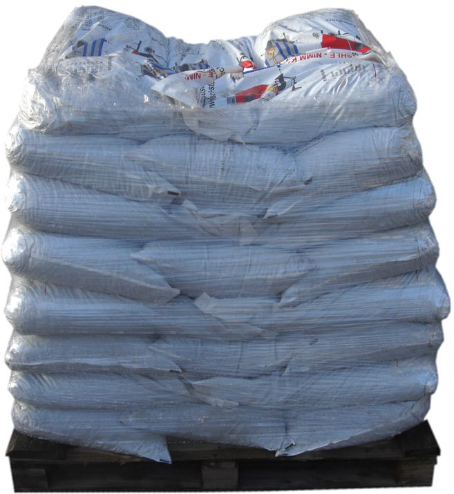 1 Tonne Steinkohle (Anthrazit) auf Palette in 25 kg Plastiksäcken Killus-Technik.de