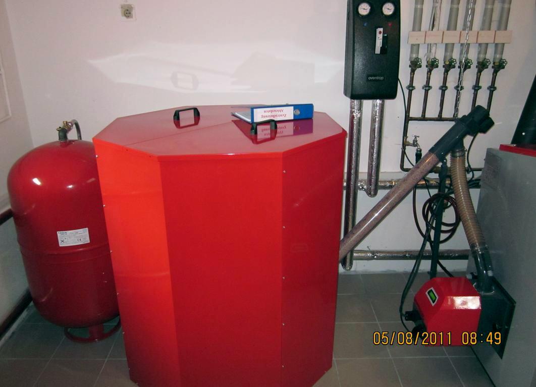 ATMOS P25 mit 1000 Liter Pelletsilo, Schnecke, Brenner A25 und Regumat m3-180 Killus-Technik.de