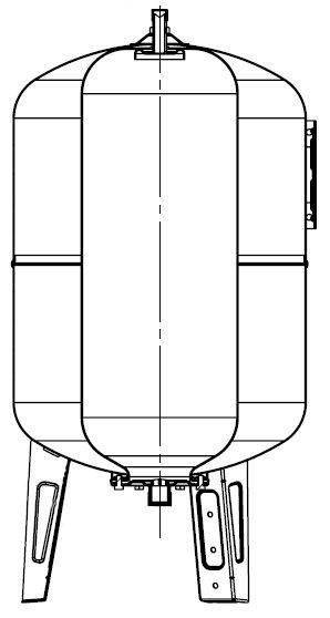 Maxivarem LS CE Ausdehnungsgefäß Schnitt für Druckerhöhungssysteme mit EPDM Membrane und Edelstahlflansch VAREM 50 bis 750 Liter Killus-Technik.de