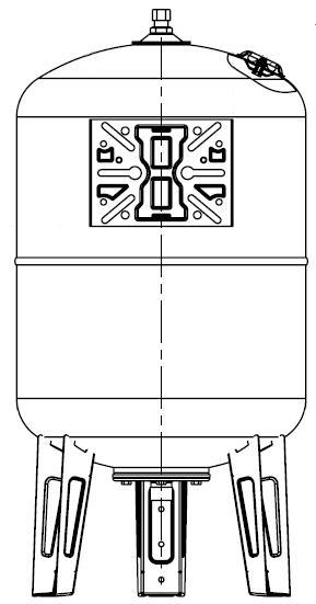 Maxivarem LS CE Ausdehnungsgefäß Ansicht für Druckerhöhungssysteme mit EPDM Membrane und Edelstahlflansch VAREM 50 bis 750 Liter Killus-Technik.de