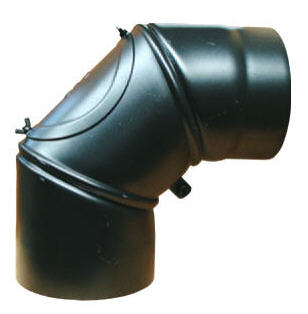 Rauchrohr 90° einstellbar 0 - 90° mit Reinigungsöffnung Killus-Technuk.de