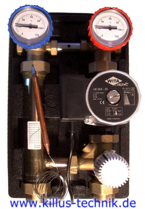 killus technik wita thermostatische hocheffizienz pumpengruppe thermostatische hocheffizienz. Black Bedroom Furniture Sets. Home Design Ideas