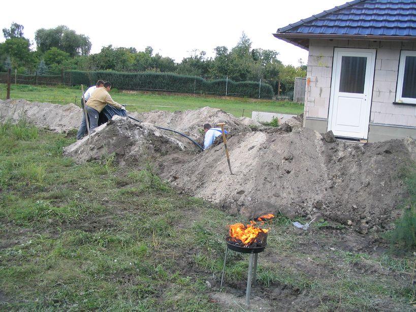 Grabenkollektor für Sole-Wasser-Wärmepumpe Ausrollen Killus-Technik.de