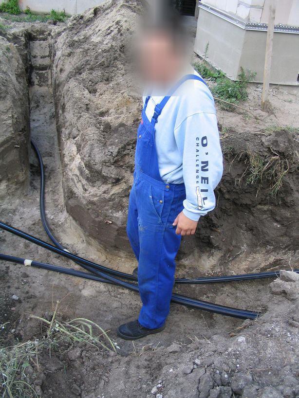 Grabenkollektor für Sole-Wasser-Wärmepumpe Verlegung Killus-Technik.de