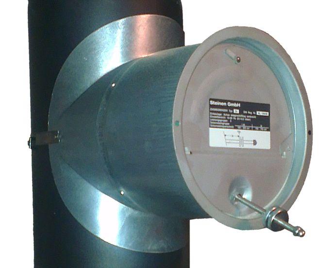 Zugbegrenzer Z6 am 150 mm Rauchrohr Killus-Technik.de