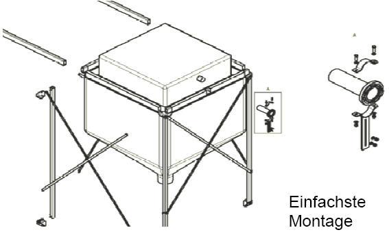 Volummax Pelletsilo mit maximaler Raumausnutzung Montage Silotec Killus-Technik.de