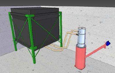 Volummax Pelletsilo mit maximaler Raumausnutzung pneumatische Saugeinheit Silotec Killus-Technik.de