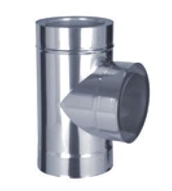 D1 doppelwandiges Abgassystem T Stueck 90°