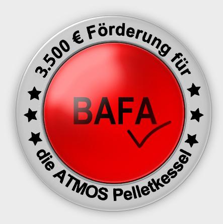 ATMOS Pelletkessel BAFA Förderung 3500 EUR Killus-Technik.de