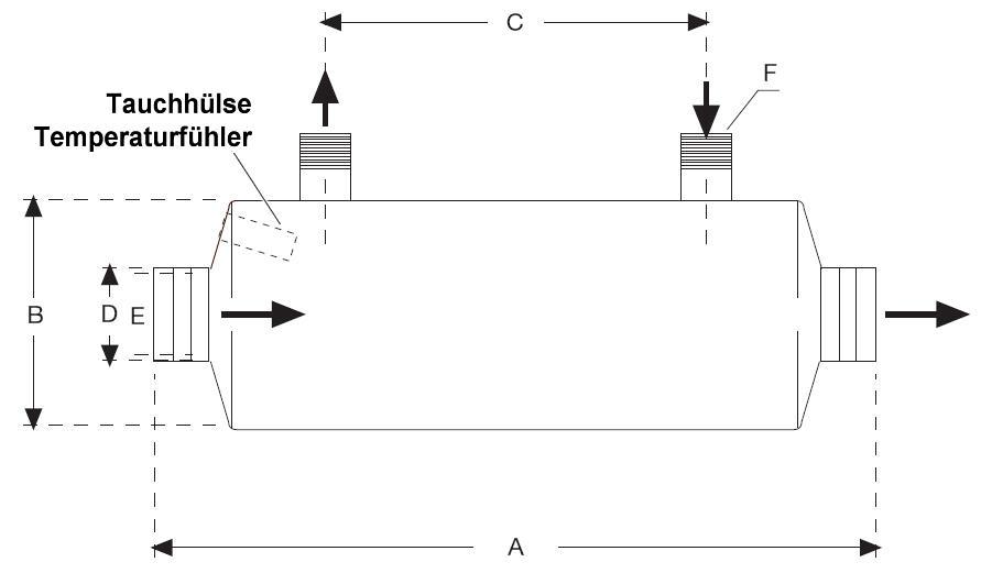 Daprà Edelstahl Heizungs-Wärme-Tauscher HWT 35-40kW Abmessungen Killus-Technik.de
