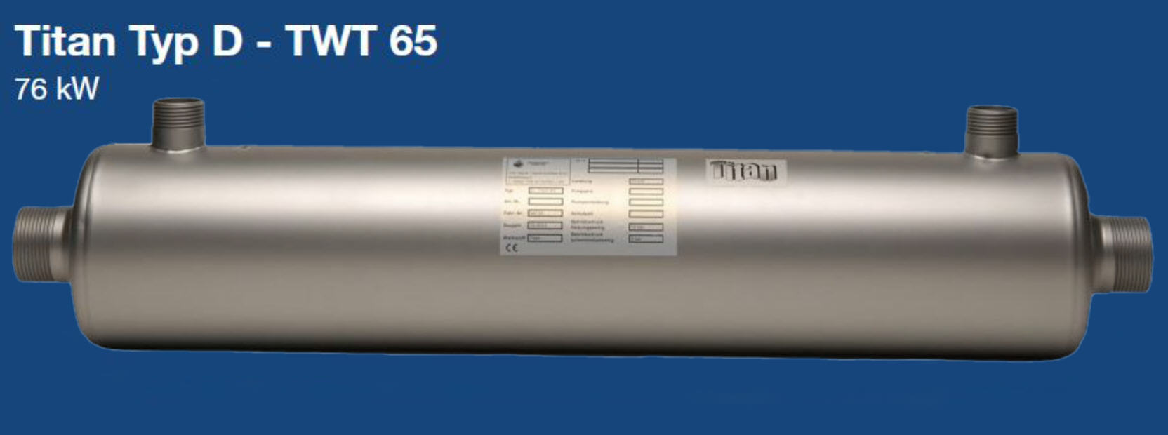 Daprà Titan Heizungs-Wärme-Tauscher D-TWT 65 kW Killus-Technik.de