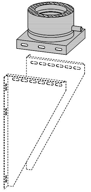 D1 doppelwandiges Edelstahl Abgassystem Konsolbleche mit Grundplatte Killus-Technik.de