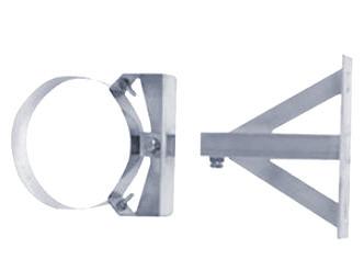 D1 doppelwandiges Edelstahl Abgassystem Wandabstandshalter verstellbar ab 250 mm