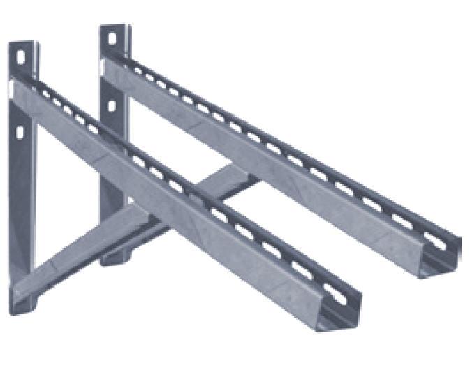 D1 doppelwandiges Edelstahl Abgassystem Grundplatte Zwischestuetze