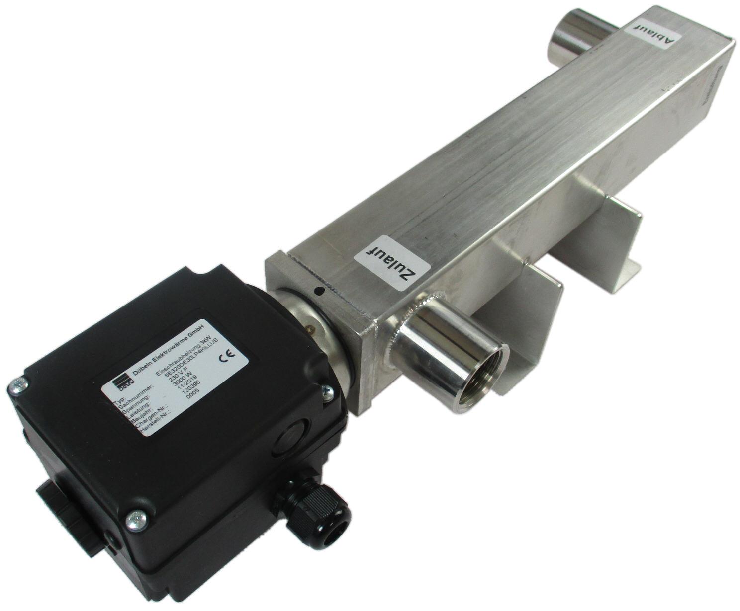 DEW Durchlauferhitzer 3 kW Edelstahl für Photovoltaik und Heizungen Killus-Technik.de