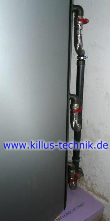 Ein Einschichtrohr an einem Speicher Killus-Technik.de
