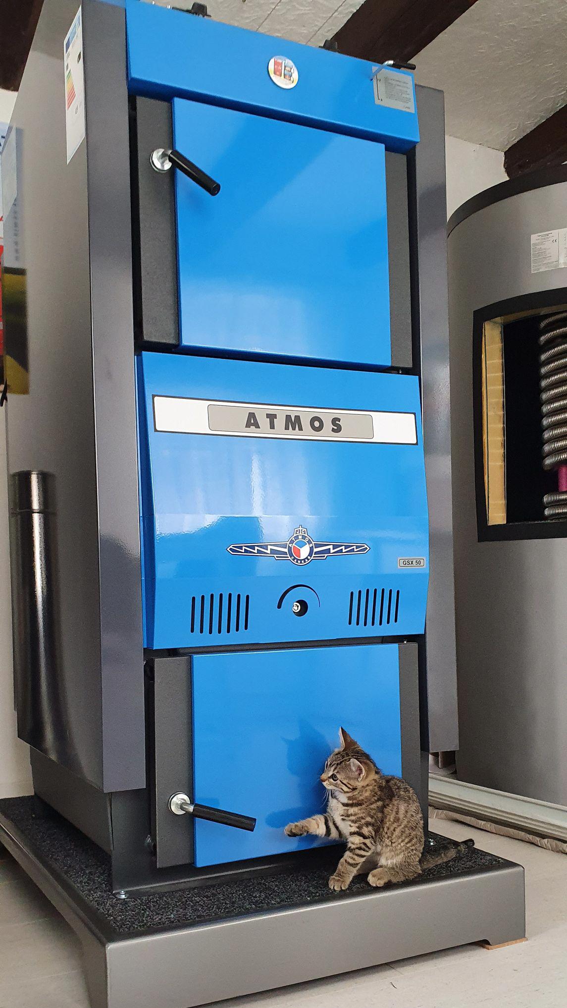 Holzvergaserkessel ATMOS GSX50 mit Katze Killus Technik