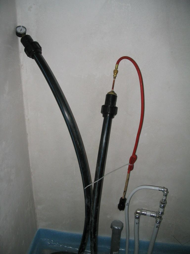 Grabenkollektor für Sole-Wasser-Wärmepumpe Druckprüfung Killus-Technik.de