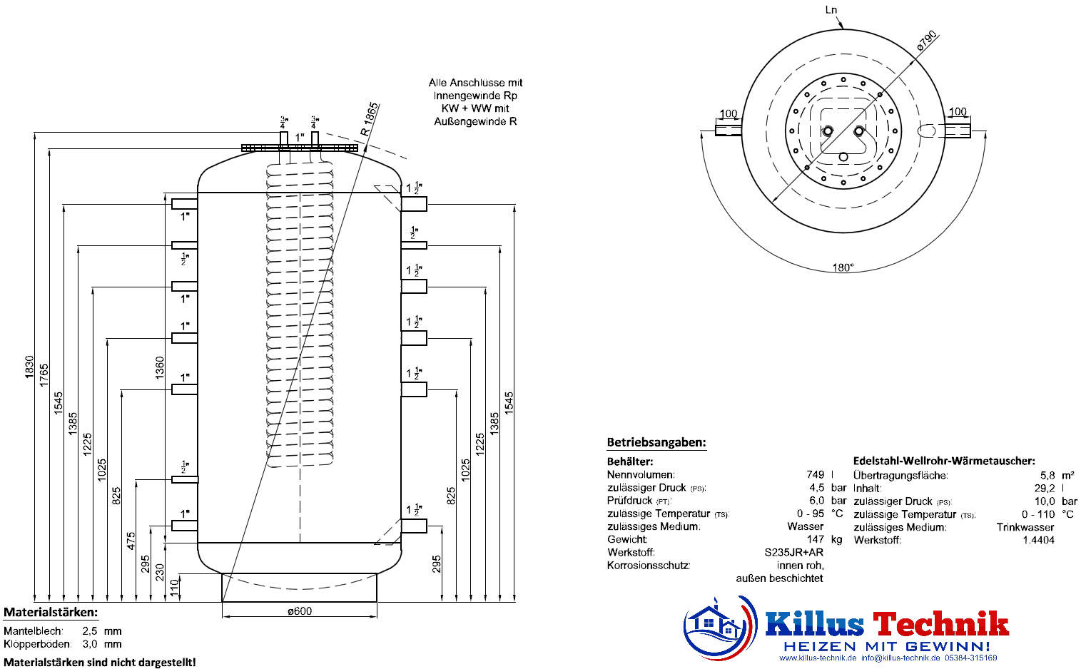 TWL Hygienespeicher KER ERP-Öko-Isolierung Killus-Technik.de