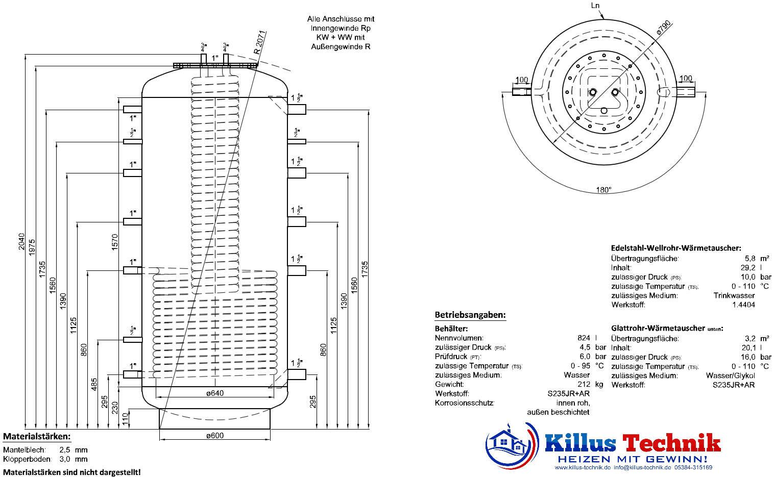 TWL Hygienespeicher KER1 ERP-Öko-Isolierung Killus-Technik.de