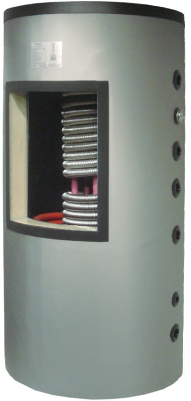 TWL Hygienespeicher mit Edelstahl-Wellrohr-Wärmetauscher für Trinkwasser und Solar-Wärmetauscher Killus-Technik.de