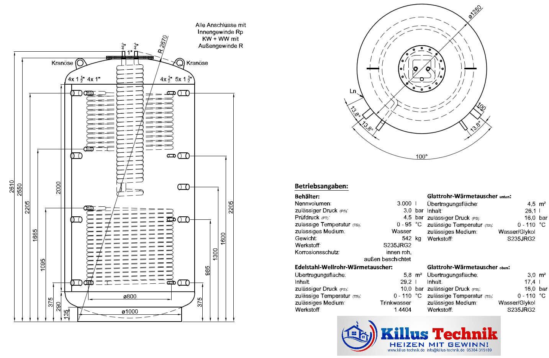 TWL Hygienespeicher KER2 ERP-Öko-Isolierung Killus-Technik.de