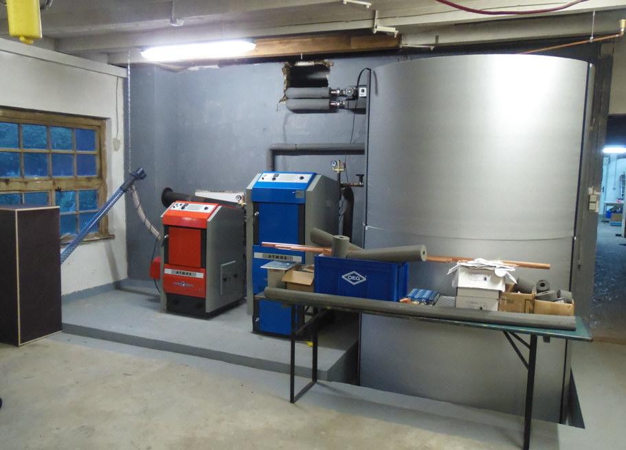 ATMOS GSX50, Pelletkessel P25, Hygienespeicher HS1.5000 mit WITA Pumpengruppe Killus-Technik.de
