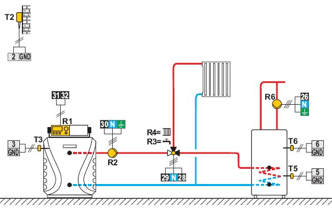 KMS-D KSF-Pro Heizungsschema Beipiel Killus-Technik.de