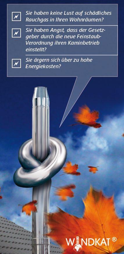 WINDKAT Schornsteinzugregulator verhindert den Knoten im Schornstein Killus-Technik.de