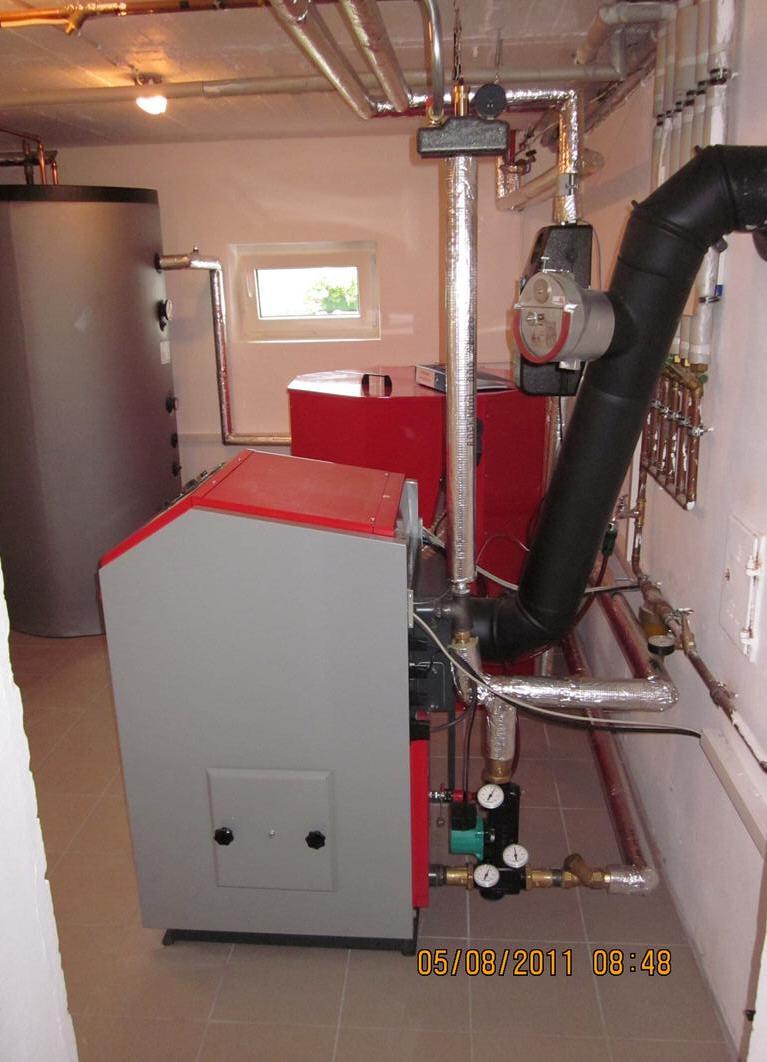 ATMOS P25 mit Laddomat, Zugbegrenzer, 1000 Liter Pelletsilo und Hygiene-Pufferspeicher HS.1000 mit Weichschaumisolierung Killus-Technik.de