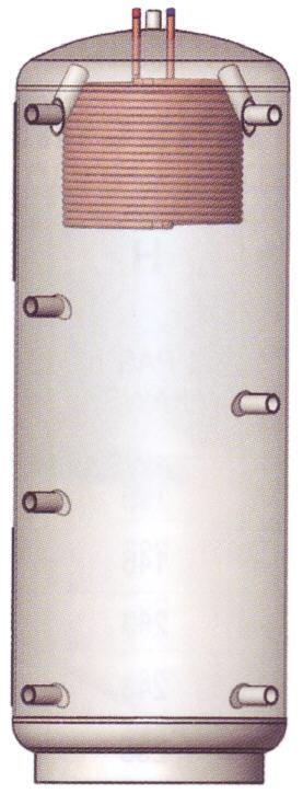 ATMOS Pufferspeicher mit Glattrohr-Kupferwäremtauscher für Warmwasser Typ PAW Killus-Technik.de