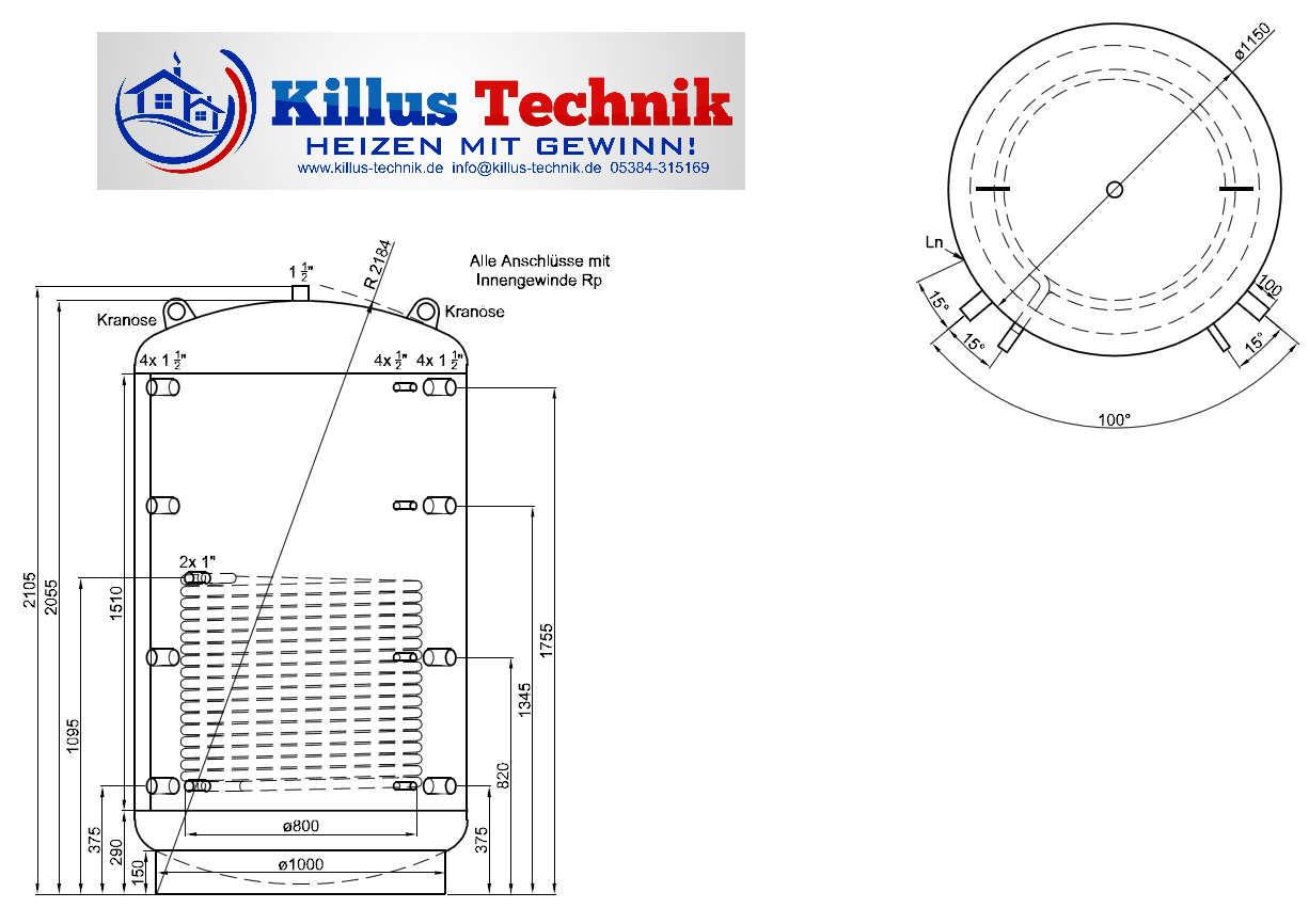 TWL Pufferspeicher 1 Solarwärmetauscher Killus-Technik.de