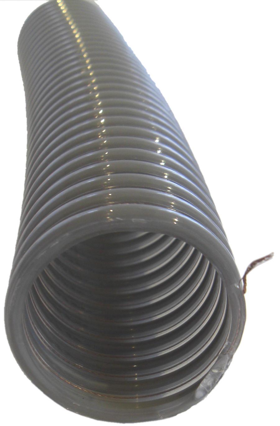 Pellets Saugschlauch und Rückluftschlauch im Schnitt PVC+PU+Kupferlitze Erdung Killus-Technik.de