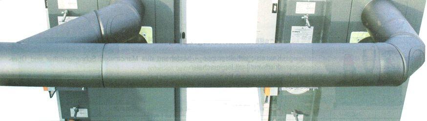 Rauchrohr mit y-Stück T-Stücl 45° mit 2 Heizkessel angeschlossen ATMOS Killus-Technik.de