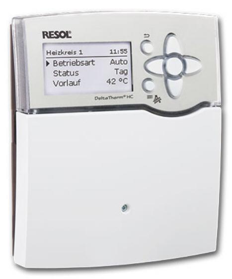 Flexibler Heizungsregler für Festbrennstoff Resol DeltaTherm HC