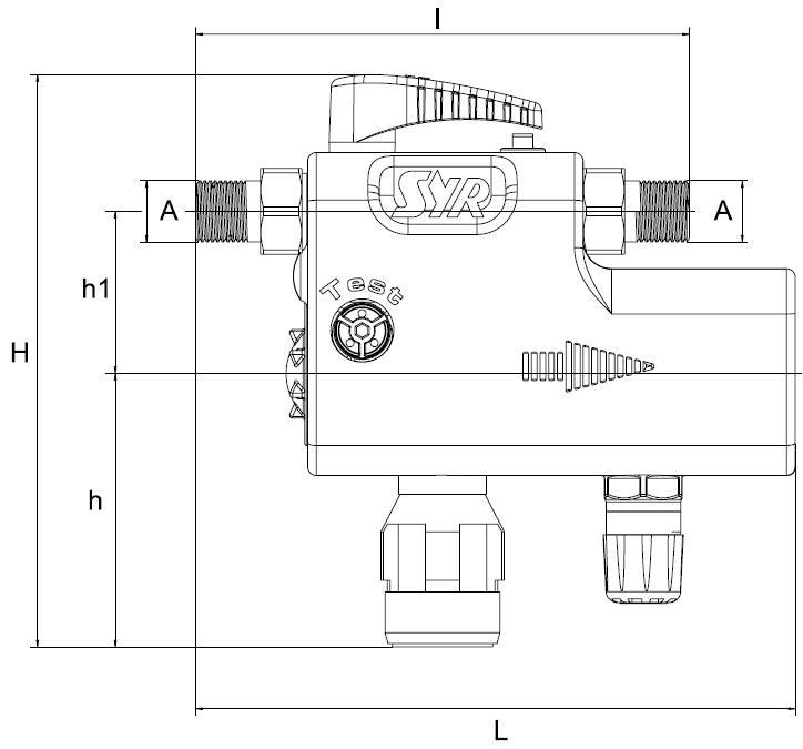 SYR Füll Combi CA 6828 mit Isolierung zur Befüllung von Heizungsanlagen Abmessungen Killus-Technik.de