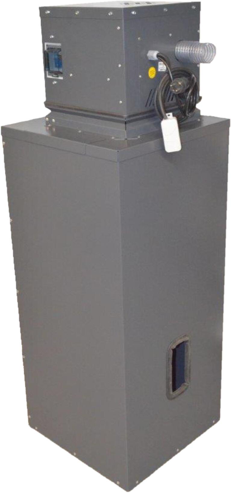 VACU-SLIM mit Zwischenbehälter 300 Liter Silotec Saugsystem Zyklon für Holzpellets Killus-Technik.de