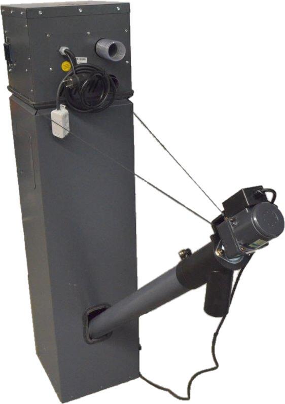 VACU-SLIM mit Zwischenbehälter 100 Liter Silotec Saugsystem Zyklon für Holzpellets Killus-Technik.de